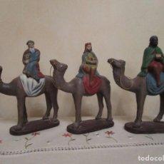 Figuras de Belén: REYES MAGOS DE BARRO.. Lote 103640995