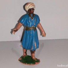 Figuras de Belén: OLIVER : ANTIGUA FIGURA GUIA NEGRO PAJE REY MAGO BALTASAR- NACIMIENTO - BELEN AÑOS 70 BUEN ESTADO. Lote 104012579