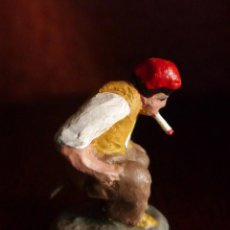 Figuras de Belén: ANTIGUO CAGON DE PESEBRE DE BARRO DE 3 CM. DE ALTURA CACA DE ALAMBRE RAREZA,EN PERFECTO ESTADO.. Lote 104161887