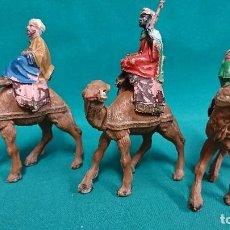 Figuras de Belén: LOTE FIGURAS DE BELÉN, TRES REYES MAGOS . Lote 104973443