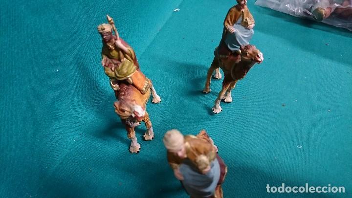 Figuras de Belén: LOTE DE REYES MAGOS, PLÁSTICO, AÑOS 70 - Foto 4 - 104982487