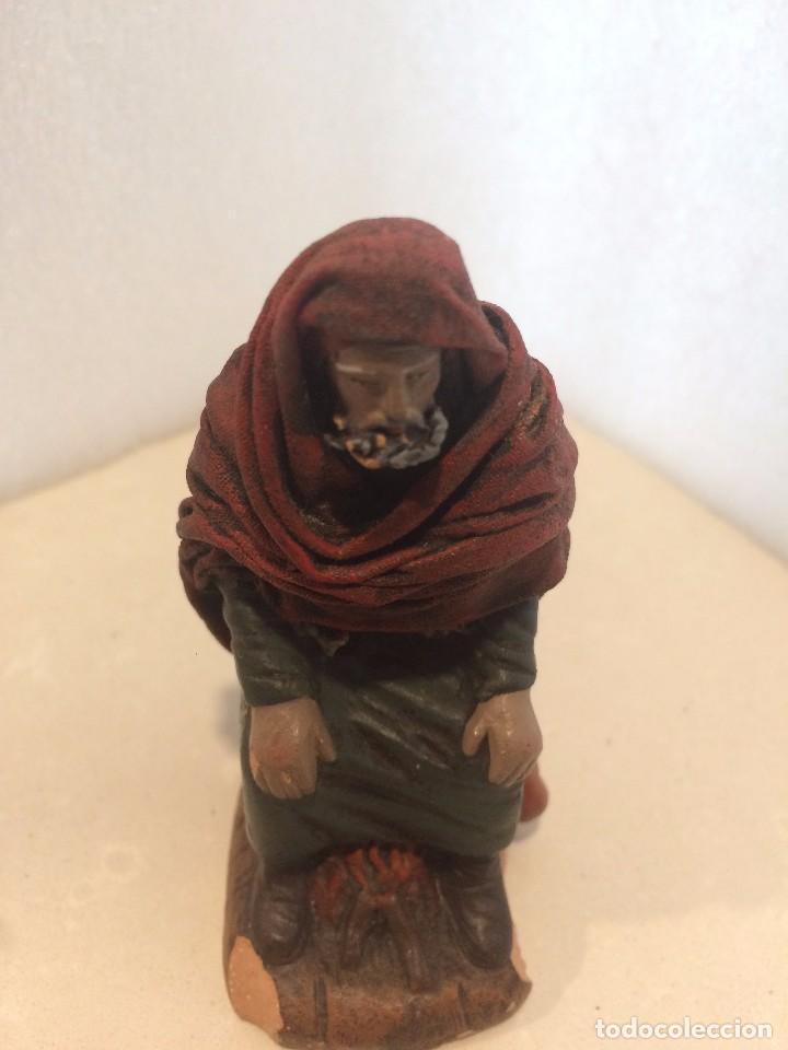 Figuras de Belén: Figura Belen - Pastor terracota / barro lienzado de Decorarte J.Fernandez - Foto 5 - 105273263