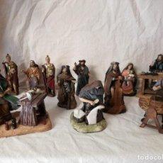 Figuras de Belén: BELEN GLORIA IN EXCELSIS DEO, DE GALERIA DEL COLECCIONISTA, SERIE SEGUNDA. 11 FIGURAS Y CASTILLO.. Lote 105328435