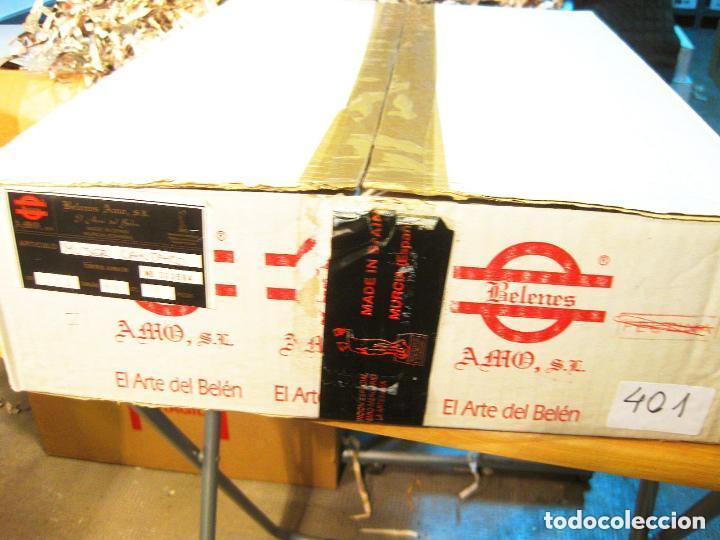 Figuras de Belén: Figura de barro para nacimiento de 14 cm. Pastora con ánfora. Artesanía M. Amo. Murcia. - Foto 3 - 105398639