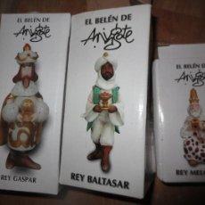 Figuras de Belén: REYES MAGOS ANTIGUOS BELEN COLECCION DE MINGOTE EN SUS CAJAS ORIGINALES. Lote 183635935