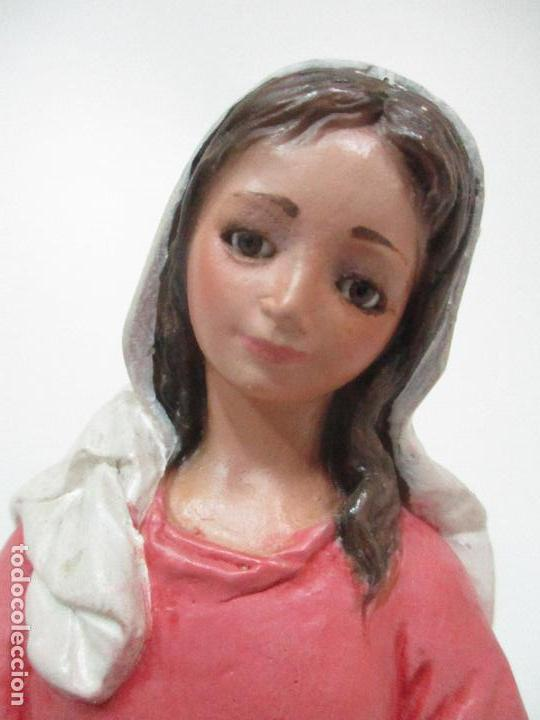Figuras de Belén: Bonito Pesebre - Belén - Nacimiento Misterio Completo - Estuco Yeso - Talleres de Olot - Foto 11 - 105875267