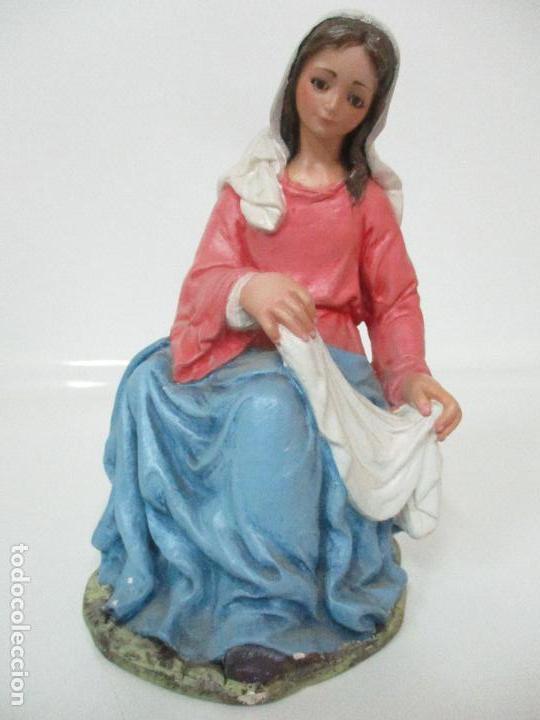 Figuras de Belén: Bonito Pesebre - Belén - Nacimiento Misterio Completo - Estuco Yeso - Talleres de Olot - Foto 16 - 105875267