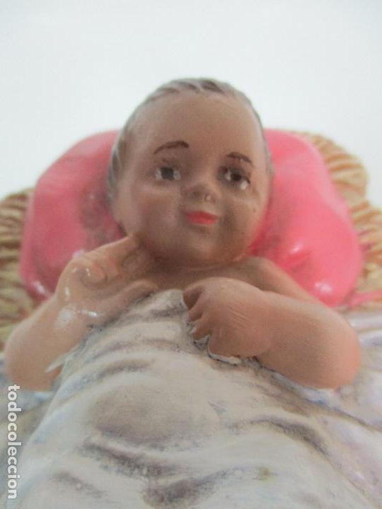Figuras de Belén: Bonito Pesebre - Belén - Nacimiento Misterio Completo - Estuco Yeso - Talleres de Olot - Foto 19 - 105875267