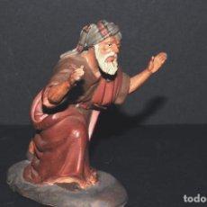 Figuras de Belén: FIGURA DE BELEN O PESSEBRE EN BARRO O TERRACOTA. Lote 105988207