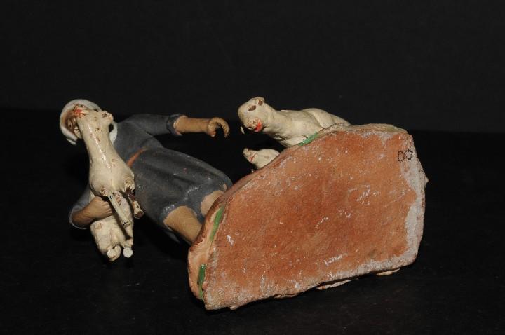 Figuras de Belén: FIGURA DE BELEN O PESSEBRE EN BARRO O TERRACOTA - PASTOR CON OVEJAS - Foto 5 - 195431747