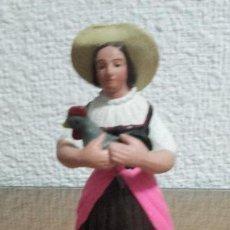 Figuras de Belén: FIGURA BELEN PESEBRE NACIMIENTO BARRO TERRACOTA MUY ANTIGUA TALLER JOSE GARCIA SIN SELLO 14 CMS. Lote 107700463
