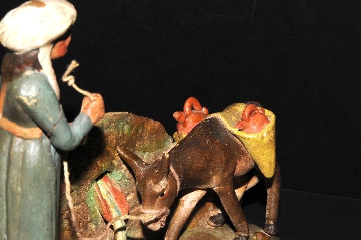 Figuras de Belén: FIGURA DE BELEN O PESSEBRE EN BARRO O TERRACOTA - PERSONAJE CON BURRO - Foto 4 - 107836331