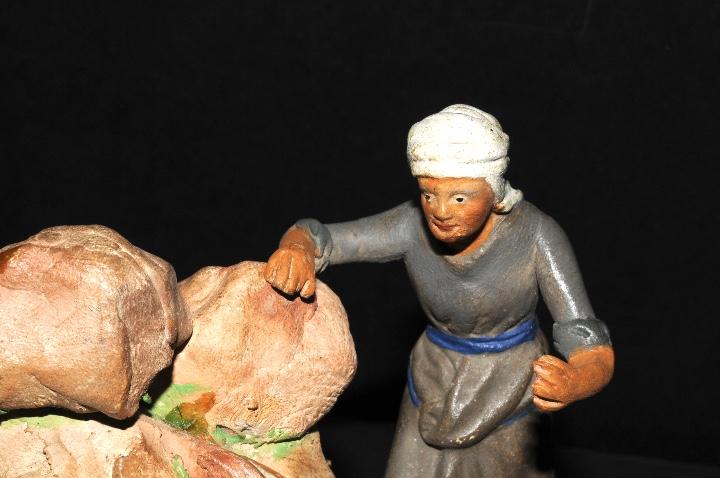 Figuras de Belén: FIGURA DE BELEN O PESSEBRE EN BARRO O TERRACOTA - MUJER EN LA FUENTE - Foto 3 - 107836951