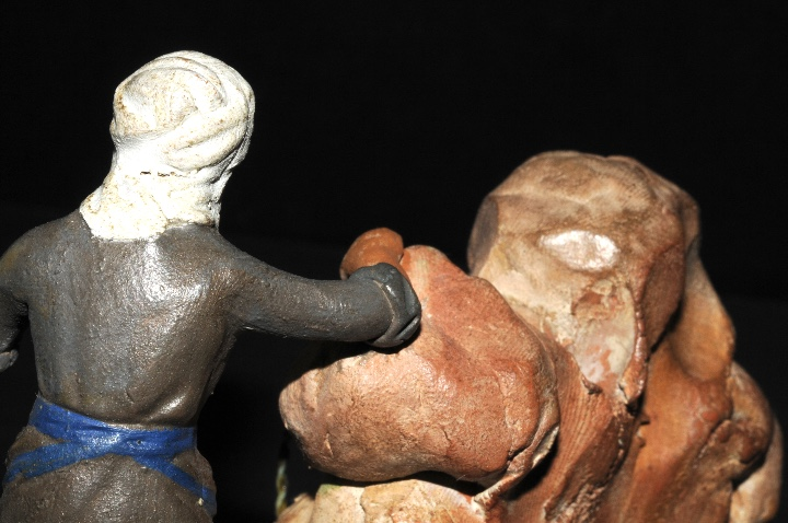 Figuras de Belén: FIGURA DE BELEN O PESSEBRE EN BARRO O TERRACOTA - MUJER EN LA FUENTE - Foto 4 - 107836951
