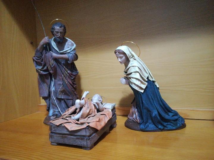 Figuras de Belén: Antiguas figuras de belén, pesebre nacimiento artesanía serrano - Foto 3 - 110664575