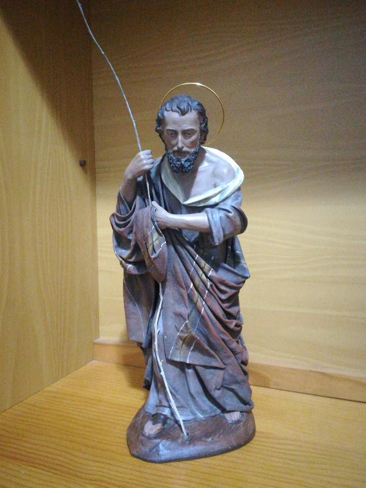 Figuras de Belén: Antiguas figuras de belén, pesebre nacimiento artesanía serrano - Foto 7 - 110664575