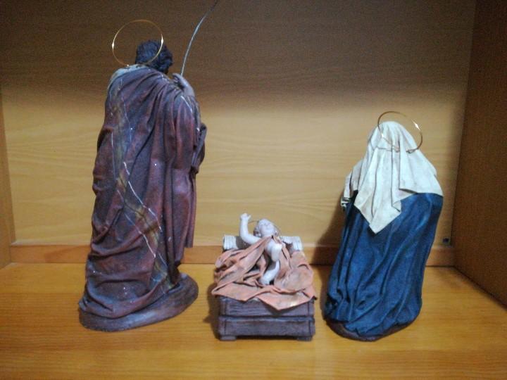 Figuras de Belén: Antiguas figuras de belén, pesebre nacimiento artesanía serrano - Foto 8 - 110664575