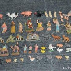 Figuras de Belén: VINTAGE - GRAN LOTE DE FIGURAS DE BELÉN - EN PLÁSTICO - AÑOS 60 - DIFERENTES TAMAÑOS - HAZ OFERTA. Lote 112507331