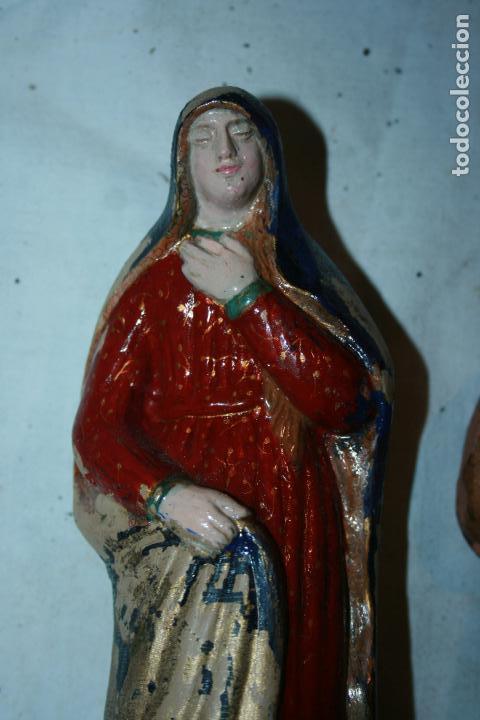 Figuras de Belén: Figuras Belen,nacimiento Vila,Garrigós.La Virgen ,San José presentación del niño en el templo.9 cms. - Foto 6 - 114350959