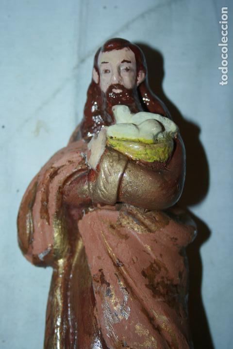 Figuras de Belén: Figuras Belen,nacimiento Vila,Garrigós.La Virgen ,San José presentación del niño en el templo.9 cms. - Foto 7 - 114350959