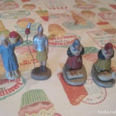 Figuras de Belén: ANTIGUAS FIGURAS DE BELEN EN BARRO. Lote 114691523