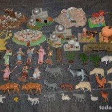 Figuras de Belén: VINTAGE - LOTAZO - CASAS, PUENTES, FIGURAS, ANIMALES, ACCESORIOS VARIOS - OLIVER, PUIG, PECH.... Lote 139087225