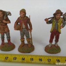 Figuras de Belén: LOTE DE 3 FIGURAS DE BELÉN MARCA LANDI (ITALIA). Lote 116215095