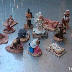 Figuras de Belén: PRECIOSO CONJUNTO DE FIGURILLAS DE PESEBRE EN TERRACOTA FIRMADAS POR EL GRAN LLORENS. Lote 116331559