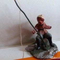 Figuras de Belén: FIGURA PESCADOR TERRACOTA. Lote 117002031