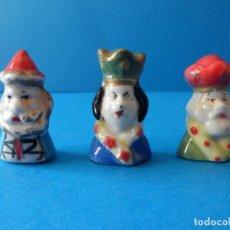 Figuras de Belén: LOTE DE REYES MAGOS DE PORCELANA - CERÁMICA - ROSCON DE REYES - FIGURAS VINTAGE - BELÉN - NAVIDAD. Lote 117063607