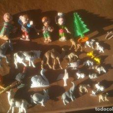 Figuras de Belén: BELEN ANTIGUAS FIGURAS PESEBRE. EN PLÁSTICO.. Lote 117518711