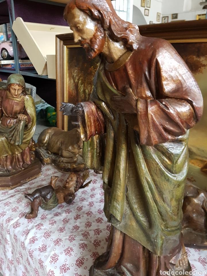 Figuras de Belén: Nacimiento, figuras de Belén de gran tamaño, San Jose 62cm. - Foto 4 - 117644259