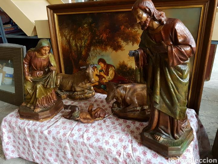 Figuras de Belén: Nacimiento, figuras de Belén de gran tamaño, San Jose 62cm. - Foto 8 - 117644259