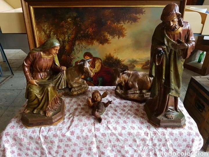 Figuras de Belén: Nacimiento, figuras de Belén de gran tamaño, San Jose 62cm. - Foto 31 - 117644259