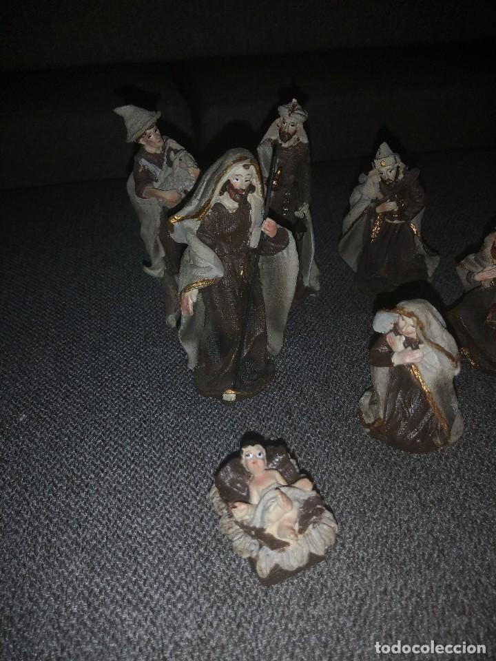 Figuras de Belén: Precioso belén de resina, 7 figuras. - Foto 3 - 118608383