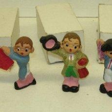 Figuras de Belén: 7 FIGURAS BARRO,TOREROS, TOROS, TAUROMAQUIA, TIPO CABEZONES FERRANDIZ, ALBOROX. Lote 121924931