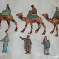 Figuras de Belén: VINTAGE - REYES MAGOS DE GRAN TAMAÑO - BELEN - OLIVER, PUIG, PECH, JECSAN... OTROS - HAZ OFERTA. Lote 121967203