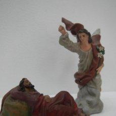 Figuras de Belén: SUEÑOS DE SAN JOSE BARRO COCIDO, - TERRACOTA 12 CMS DE M. NICOLAS ALMANSA PASTOR BELEN. Lote 122043319