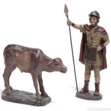 Figuras de Belén: FIGURA BELEN GUARDIAN CON TERNERO SERIE 11 MAYO. Lote 122846900