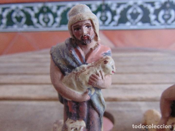 Figuras de Belén: FIGURA DE BELEN EN BARRO , TERRACOTA 2 PASTORES - Foto 2 - 123348811