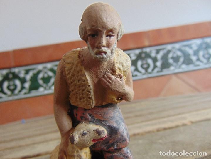 Figuras de Belén: FIGURA DE BELEN EN BARRO , TERRACOTA 2 PASTORES - Foto 6 - 123348811