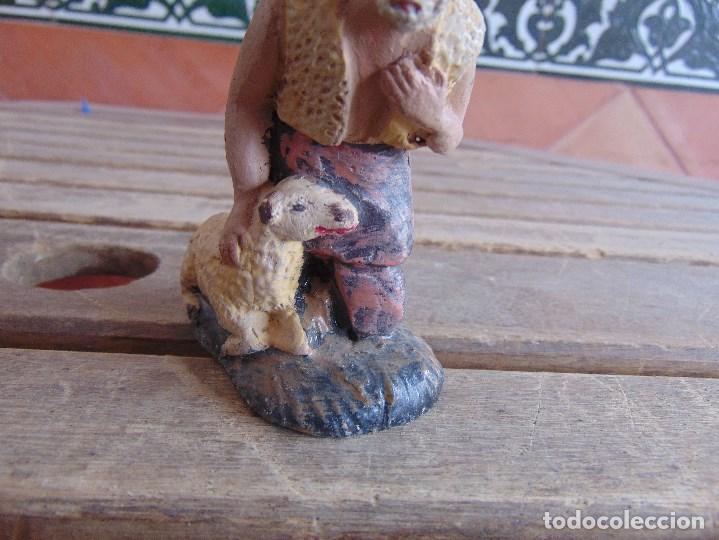 Figuras de Belén: FIGURA DE BELEN EN BARRO , TERRACOTA 2 PASTORES - Foto 7 - 123348811