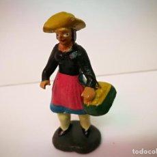 Figuras de Belén: BELEN MURCIANO,FIGURA DE BARRO.MEDIDAS 8CM.DE ALTURA.. Lote 123711267