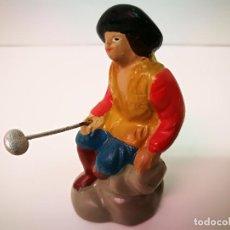 Figuras de Belén: BELEN MURCIANO,FIGURA DE BARRO.MEDIDAS 8CM.DE ALTURA.. Lote 123712179