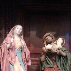 Figuras de Belén: PRESENTACION EN EL TEMPLO, EN BARRO Y LIENZO. SERRANO - MURCIA. 22 CMS DE ALTO.. Lote 124749039