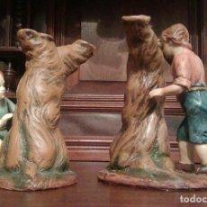 Figuras de Belén: NIÑOS JUGANDO AL ESCONDITE, EN BARRO, MURCIA. PARA FIGURAS DE 21-22 CMS.. Lote 124933923