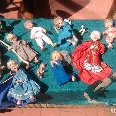 Figuras de Belén: CURIOSO NACIMIENTO DE TRAPO DE LOS AÑOS SESENTA PARA QUIEN QUIERA RESTAURARLO POR SÓLO NOVENTA EUROS. Lote 125047127