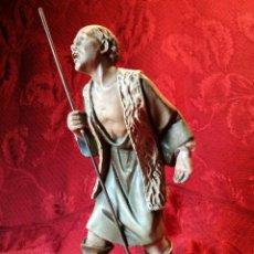 Figuras de Belén: PASTOR EN EXTASIS ESTUCO OLOT CON GRAN SELLO TALLER LA ESTATUARIA RELIGIOSA LA CONCEPCION---SERIE 20. Lote 125269775