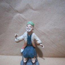 Figuras de Belén: FIGURA ANTIGUA DE PASTOR CATALANA PARA BELÉN PESEBRE NACIMIENTO HUEVO FRITO CACHARRERIA. Lote 127249095