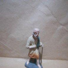 Figuras de Belén: FIGURA ANTIGUA DE PASTOR CATALANA PARA BELÉN PESEBRE NACIMIENTO HUEVO FRITO CACHARRERIA. Lote 127249279